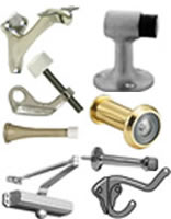 Door Stops, Closers, Viewers, Coat Hooks & Handrail Brackets